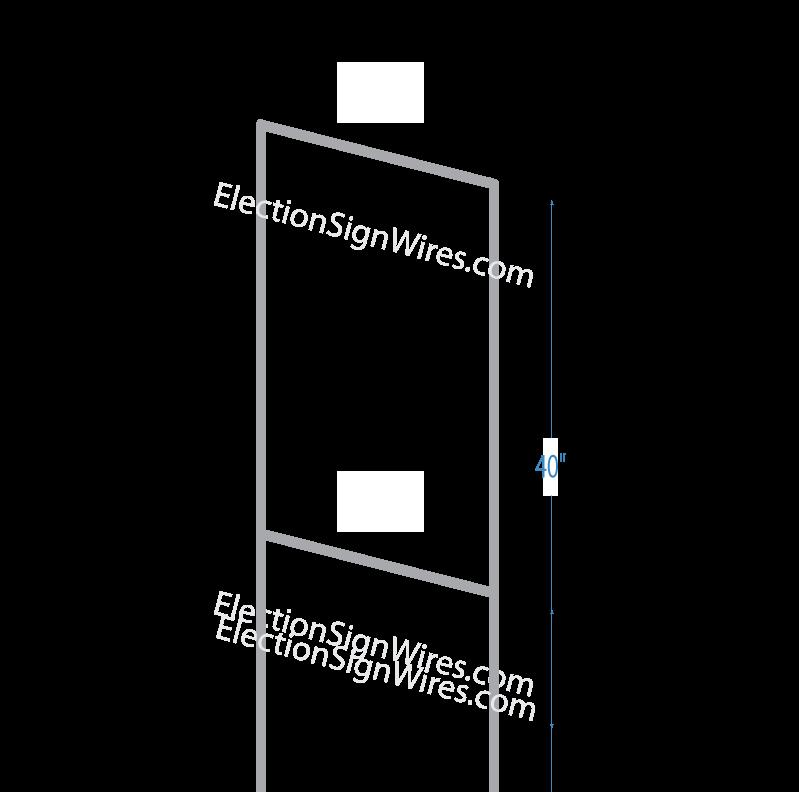 Custom Poly Bag Election Sign Holder - Election Sign Wires